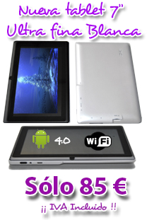 Tablet 7 pulgadas ultra slim